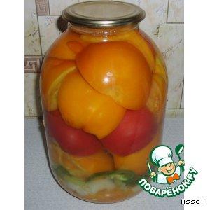 Рецепт Помидоры, консервированные с морковью и луком