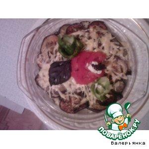 Рецепт Запеченные  с сыром баклажаны