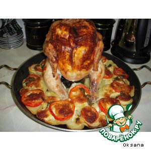 рецепт курицы на банке в духовке с пивом целиком рецепт