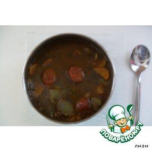 """Рецепт Суп из чечевицы с острой  испанской колбасой """"Чоризо"""""""