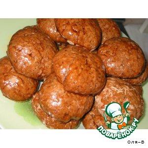 Рецепт Шоколадные пряники на сметане с глазурью