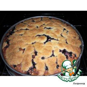Рецепт Чернично-творожный пирог