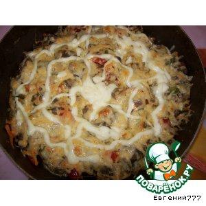 Рецепт Жареное мясо с грибами
