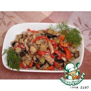 Рецепт Салат  из  баклажанов с рыбой