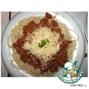 Рецепт Спагетти  с  фаршем  :)