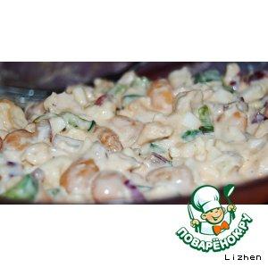 Рецепт Салат из курицы с фасолью