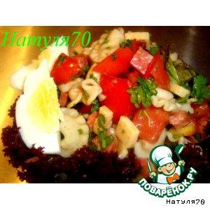 Рецепт Салат из макарон с салями