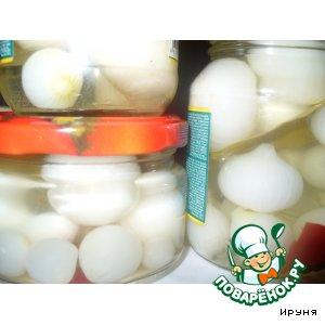 Рецепт Маринованный маленький (жемчужный) лук
