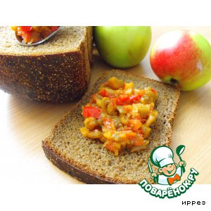 Рецепт Баклажанная икра с яблоками