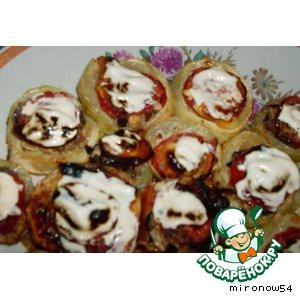Рецепт Кабачок фаршированный грибами