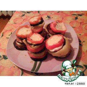 Рецепт Башенки из овощей с сыром