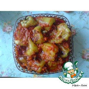 Рецепт Перец жареный с подливкой