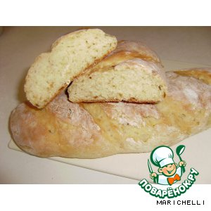 Рецепт Домашний хлебушек на кефире-2  (с жаренным лучком)