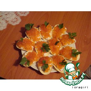 Рецепт Закуска на чипсах