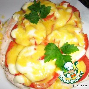 Рецепт Куриные отбивные с помидорами и болгарским перцем