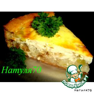 Рецепт Яблочно-луковый пирог