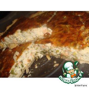 Рецепт Запеканка с копченым лососем и сыром
