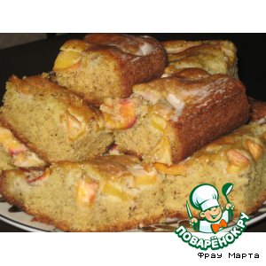 Рецепт Нежный пирог с персиками