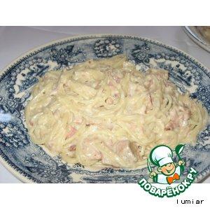 Рецепт Спагетти с тунцом (Esparguette com atum)