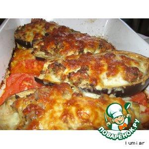 Рецепт Баклажаны запеченные с тунцом