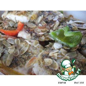 Рецепт Рыба в масляном соусе с миндальным орехом