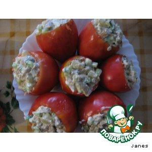 Рецепт Помидоры фаршированные мясным салатом