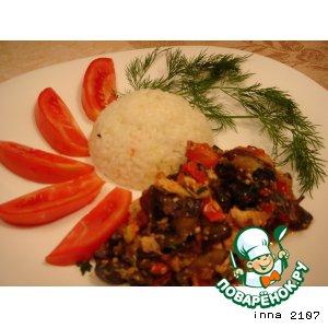 Рецепт Куриная грудка с баклажанами