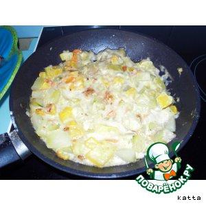 Рецепт Кабачки под сырным соусом