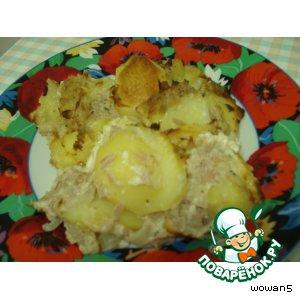 Рецепт Картофельная   запеканка  с  тунцом