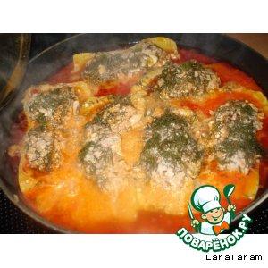 Рецепт Кабачки фаршированные в соусе
