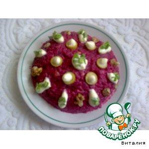Салат из свеклы простой рецепт приготовления с фото