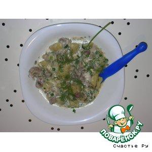 Рецепт Куриные желудочки с овощами