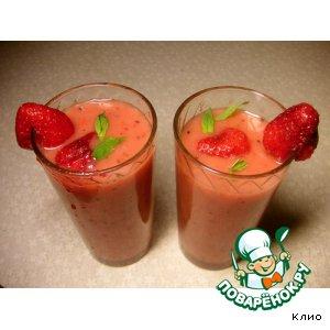 Рецепт Клубничный коктейль с киви