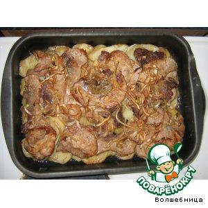 Рецепт Жаркое маринованное с картошкой