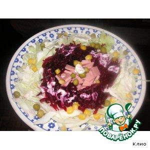 Рецепт Капустно-свекольный салатик