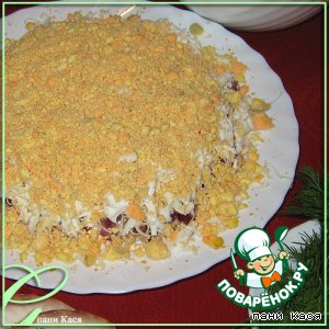 """Рецепт Салат """"Мимоза"""" из лосося с сыром"""