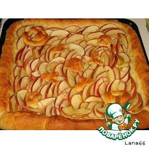 Рецепт Яблочный постный пирог