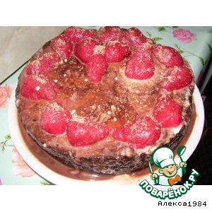 Рецепт Тортик с шоколадом и клубничкой