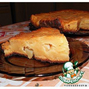 Рецепт Пирог творожный с яблоками