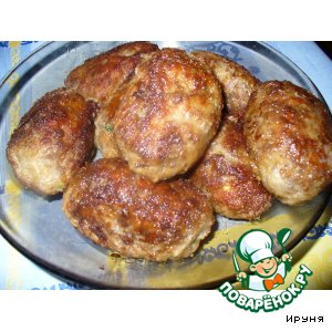 Рецепт Котлеты с начинкой из яиц и зелени