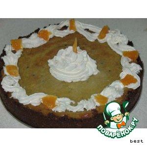 Рецепт Нежный кремовый пирог с киви