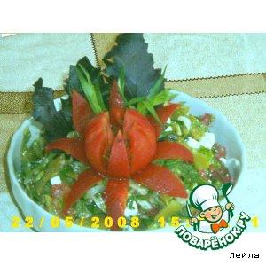 Рецепт Пряный фасолевый салат с сыром