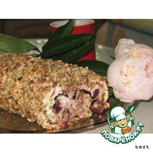 Рецепт Меренговый рулет с вишнями