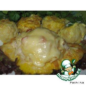 Рецепт Куриные шницели, запечeнные с начинкой