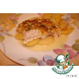 Рецепт Зепеченная рыба с картофелем