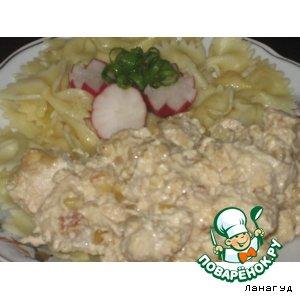 Рецепт Куриные грудки с кедровыми орешками в сливках