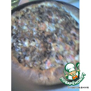 Рецепт Пицца с ананасом и ветчиной