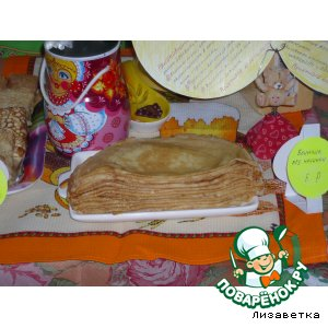 Рецепт Блинчики на кефире