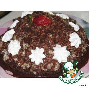 Рецепт Маковый торт с вишнями и сметанным кремом