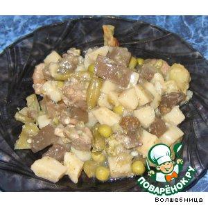 Рецепт Овощи тушеные с мясом
